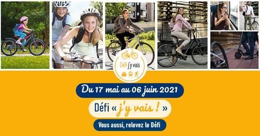 Défi J'y vais à vélo et autrement du 17 mai au 6 juin